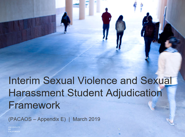 Interim Sexual Violence and Sexual Harassment Student Adjudication Framework (PACAOS - Appendix E)